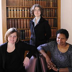 Reporter team members Ceri Benton (back), Sadie Byrne and Tara Grant