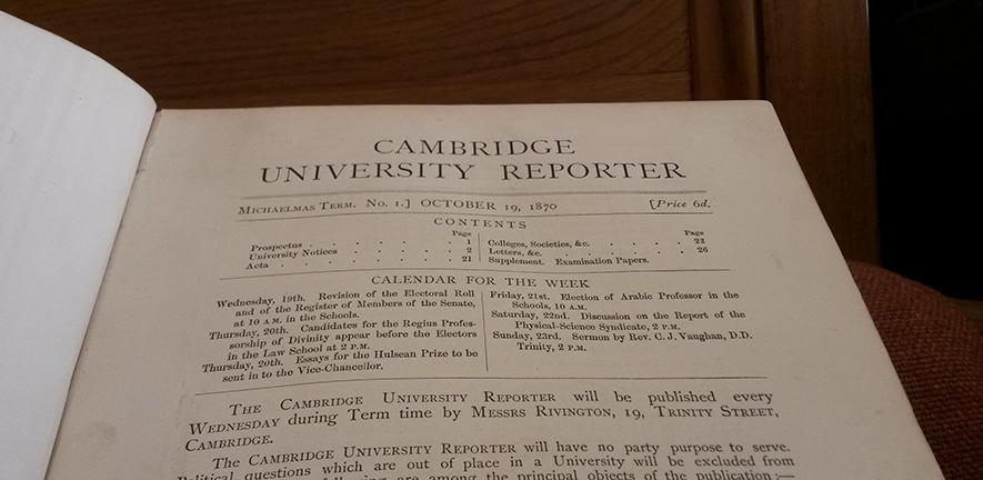 Cambridge University Reporter |